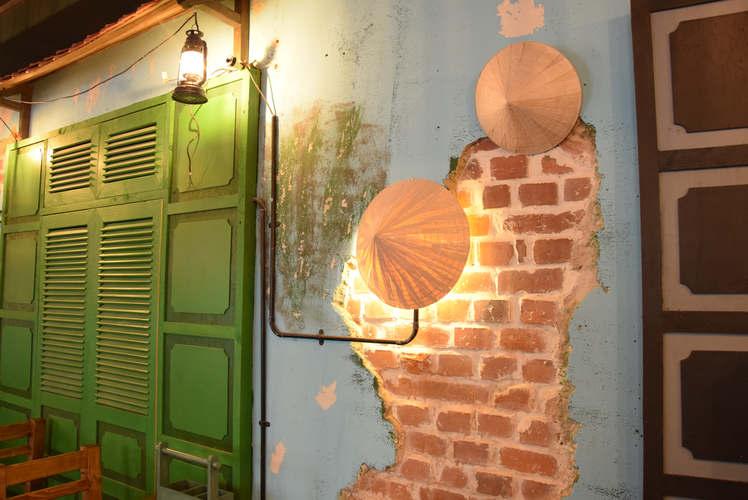 vietnamesisch dekorierte Wand