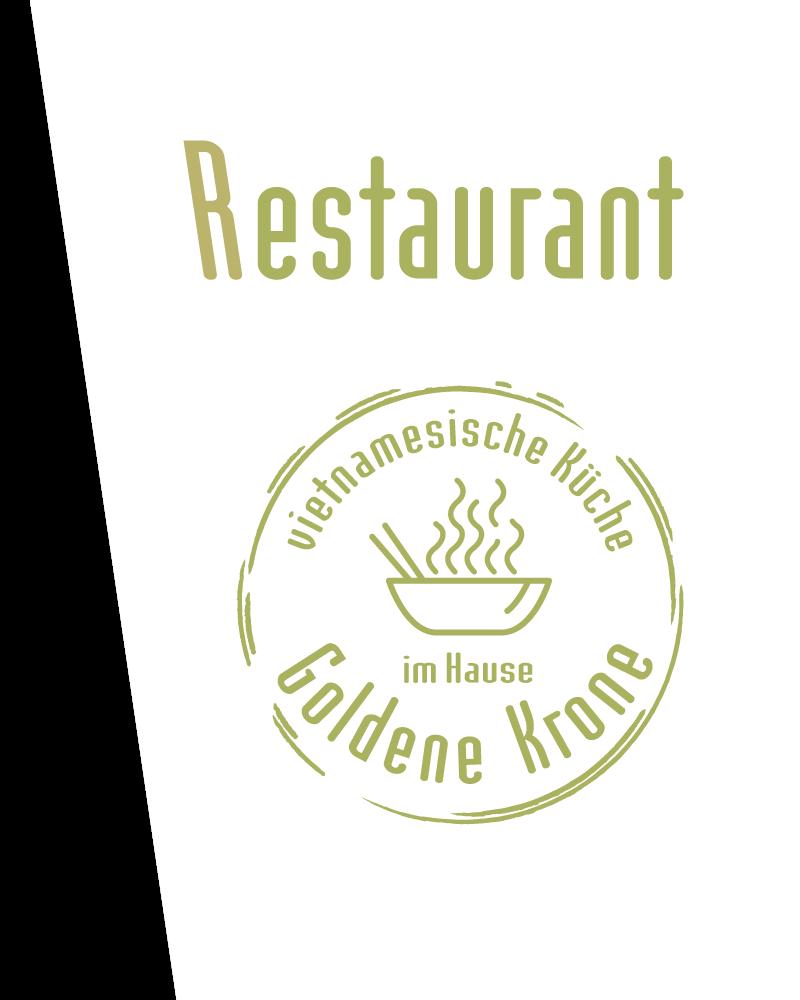 Restaurant-Schriftzug mit Logo